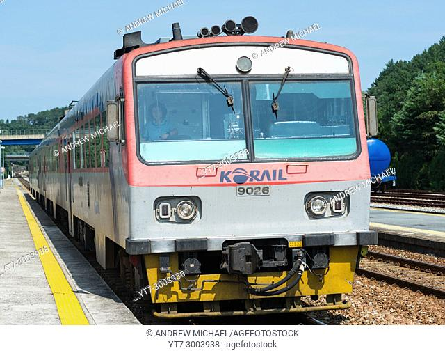Korail Railway Train heading for Pusan, South Korea