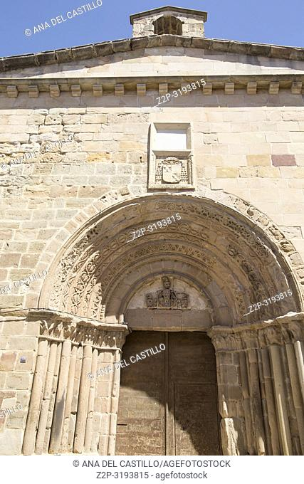 Santiago Church in Siguenza is a medieval village in Guadalajara Castile La Mancha Spain