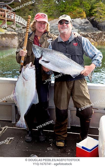 King salmon fishing, Sitka, Southeast Alaska, USA