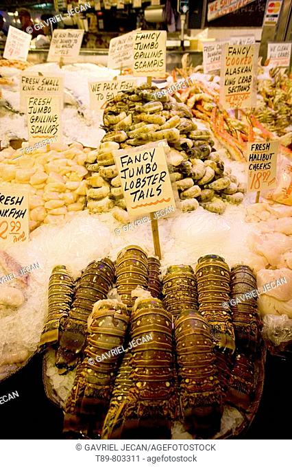 Fresh seafood at the Pike Street Market