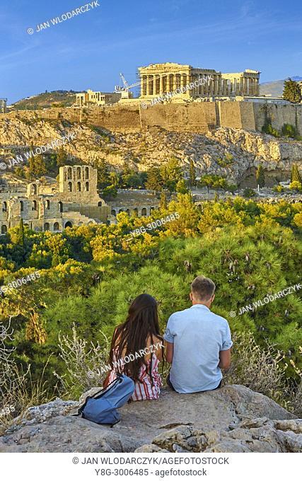 View at Parthenon, Acropolis, Athens, Greece