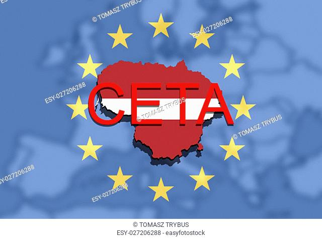 ceta - comprehensive economic and trade agreement,lithuania map