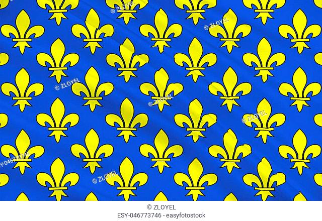 Flag of Saint-Denis is a commune in the northern suburbs of Paris, France