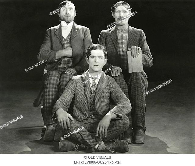 Three men posing in their Sunday best (OLVI008-OU254-F)