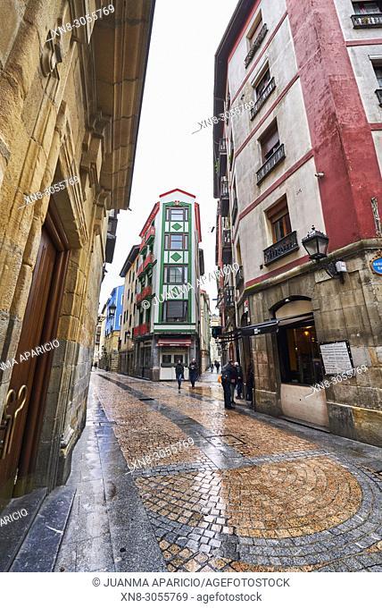 Old Town, Bilbao, Biscay, Basque Country, Spain