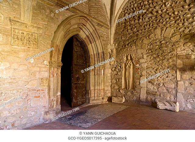 The cathedral and cloister at Elne, Pyrenees Orientales, Languedoc Roussillon, France