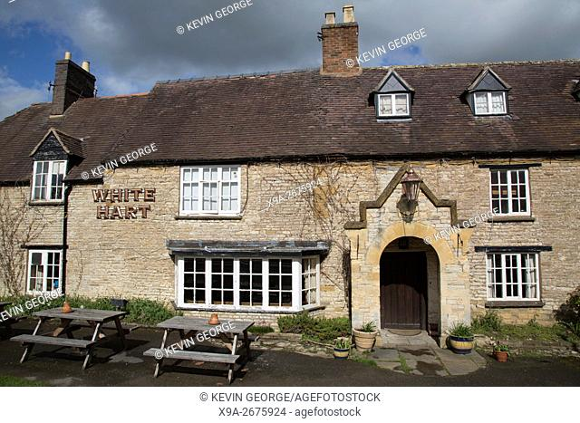 White Hart Inn Pub, Newbold on Stour, Stratford Upon Avon, England
