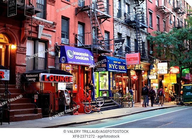 West Village, Macdougal street, Manhattan, New York City, New York, USA