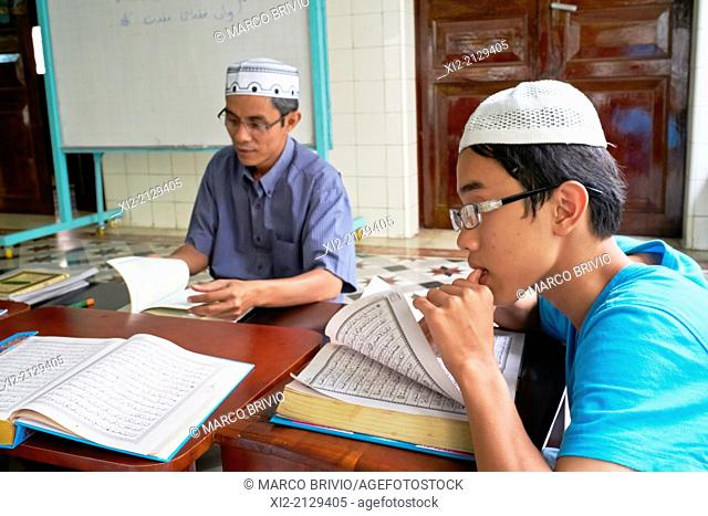 Muslim lessons in in Saigon Central Mosque. Ho Chi Minh, Vietnam