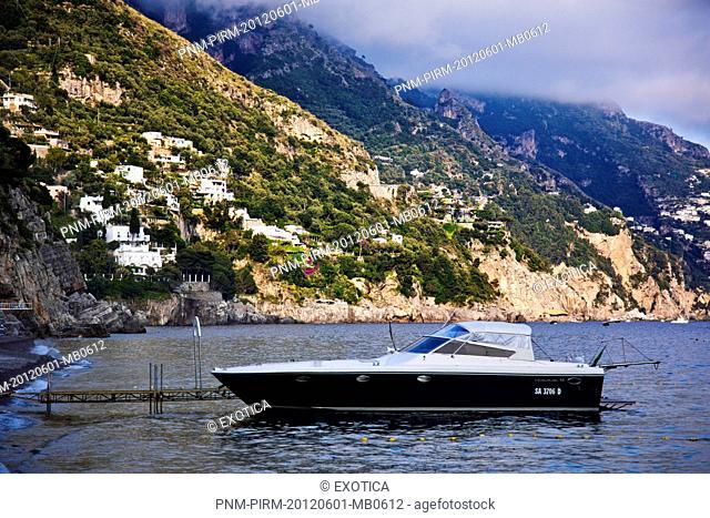 Motorboat in Capri, Campania, Italy
