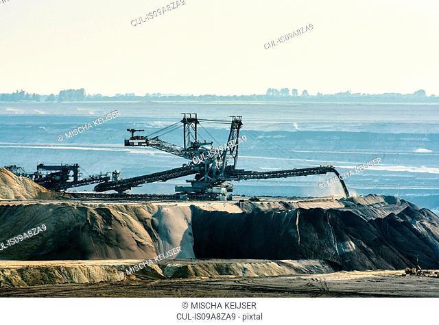 Brown coal opencast mine, Juchen, Germany