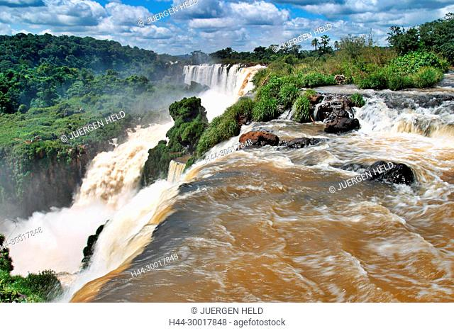 Brazil, Argentina, Panama border, Iguazu National park, Iguazu Falls