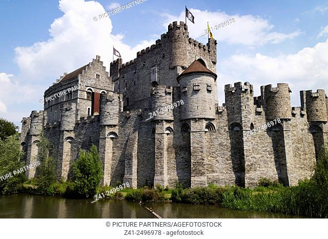 Gravensteen castle in Ghend, Belgium