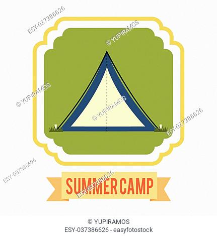camping icon design, vector illustration eps10 graphic
