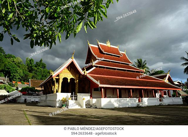 Temple Wat Ho Pha Bang in Luang Prabang, Laos