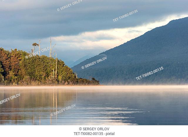 Sunrise on Te Anau Lake, New Zealand