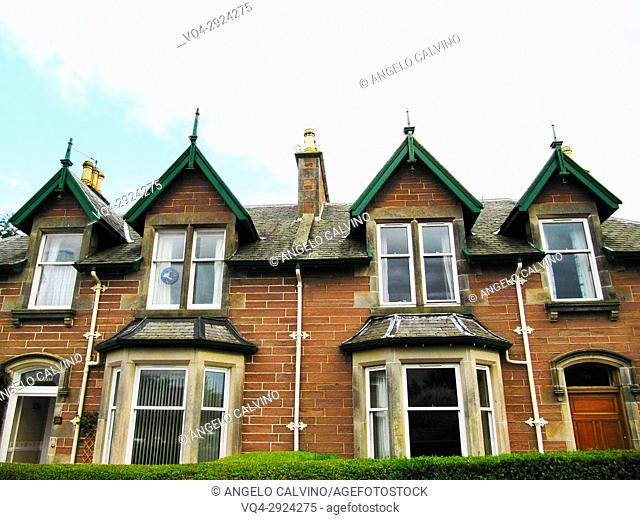 Typical Scottish House in Inverness, Scotland, Great Britain