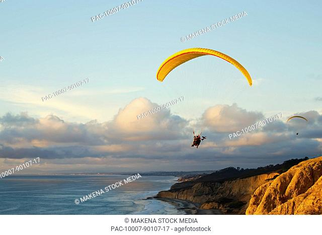 Paraglide flying coast Stock Photos and Images | age fotostock