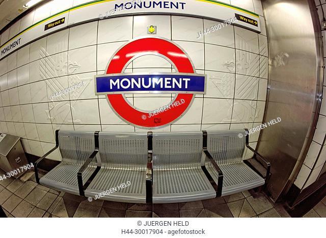 United Kingdom, England, London, Monument, Metro Station, Tube