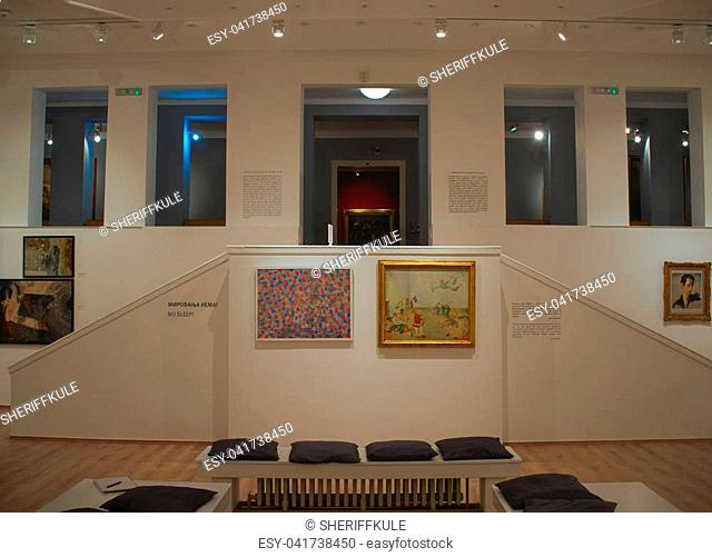 NOVI SAD, SERBIA - April 13th: Hall in museum of modern art