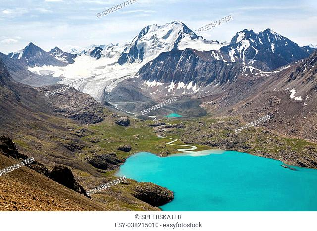Ala-Kul lake in Tien Shan mountains, Kyrgyzstan