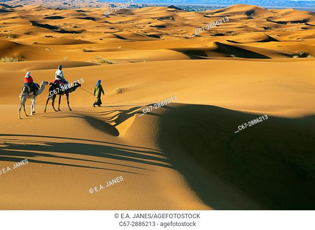 Erg Chebbi Dunes Sahara Desert Morocco North Africa March
