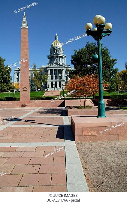 View of Capitol Building, Denver, Colorado, USA