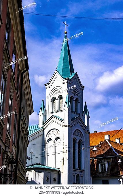 Our Lady of Sorrows Church in Riga, Latvia, Europe