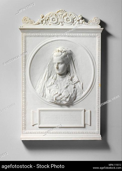 Louise Adele Gould. Artist: Augustus Saint-Gaudens (American, Dublin 1848-1907 Cornish, New Hampshire); Date: 1893, carved 1894; Medium: Marble; Dimensions: 40...