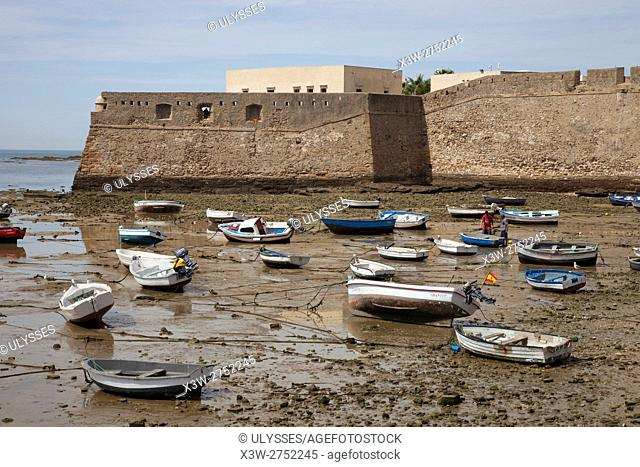 San Sebastian Castle, Cadiz, Andalucia, Spain, Europe