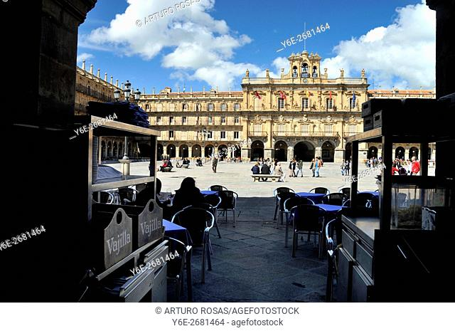 The Town Hall of Salamanca in the Plaza Mayor