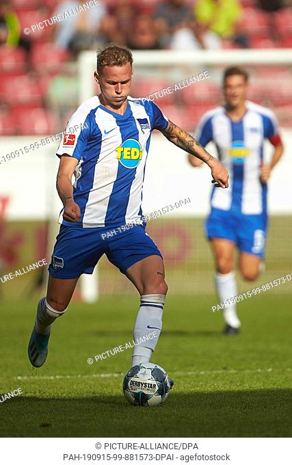 14 September 2019, Rhineland-Palatinate, Mainz: Soccer: Bundesliga, FSV Mainz 05 - Hertha BSC, 4th matchday in the Opel Arena. The Berlin Ondrej Duda