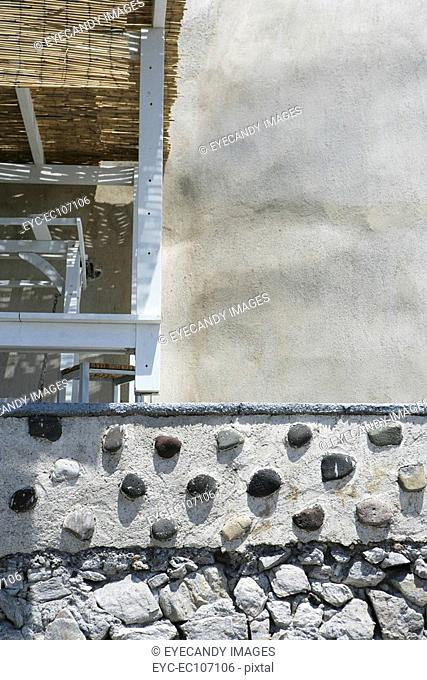 Close-up of concrete stone wall