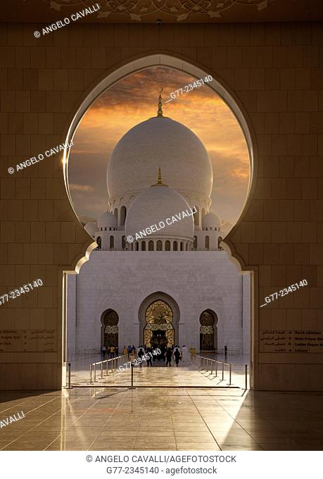 Sheikh Zayed Great Mosque, Abu Dhabi, United Arab Emirates