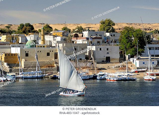 Felucca, River Nile, Aswan, Egypt, North Africa, Africa