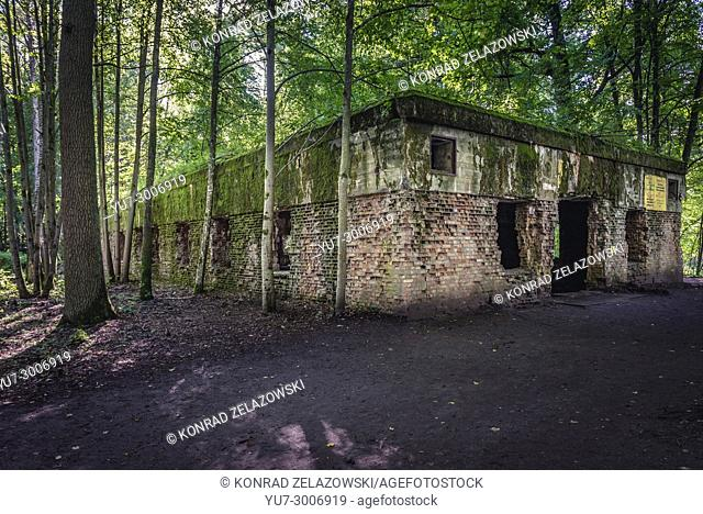 Ruins of Wolf's Lair - the headquarters of Adolf Hitler and the Nazi Supreme Command of Armed Forces in WW2 near Gierloz village, Poland