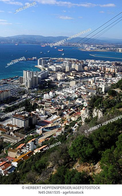 Queensway Quay Marina on Gibraltar Harbor, Gibraltar Harbour, Gibraltar, United Kingdom, UK, Europe