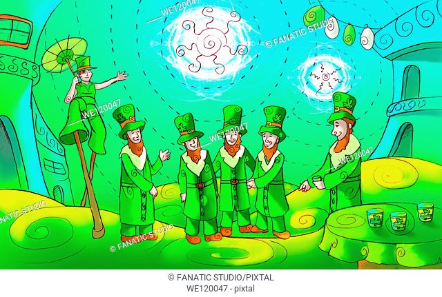 Saint Patrick's Day celebration in Republic of Ireland