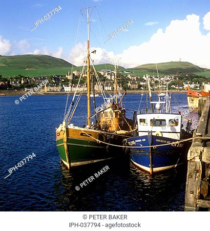 Campbeltown harbour on the Kintyre Peninsula