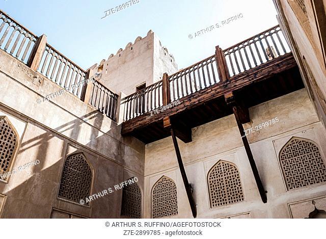 Inner courtyard. Jabrin (Jabreen) Castle, Jabrin, Ad Dakhiliyah Governorate, Oman