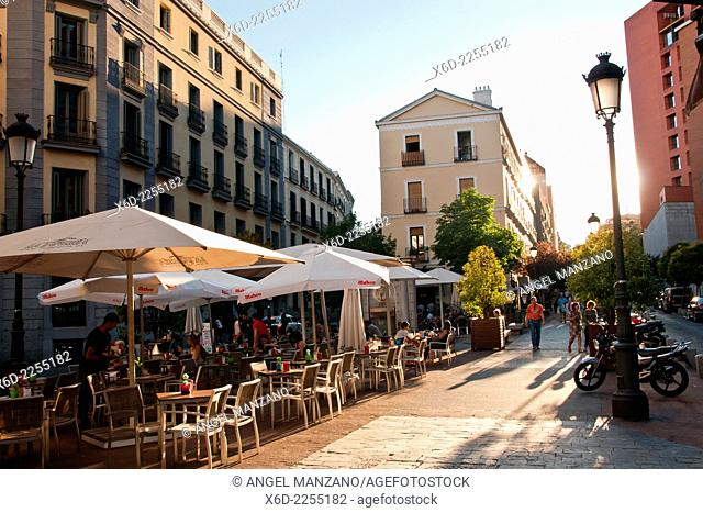 Terrace bar, El Prado museum area, Madrid