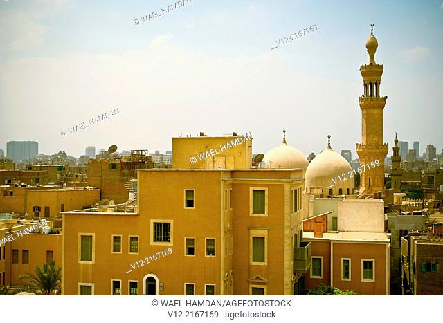 View Of Old Cairo wall and old Islamic Quarter, Egypt, North Africa
