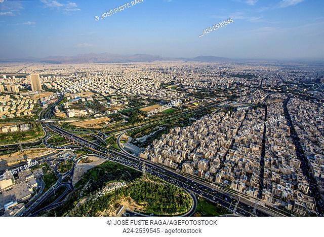Iran,. Teheran City, Teheran city from Milad Tower