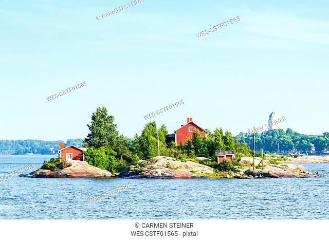 Finland, Helsinki, small island