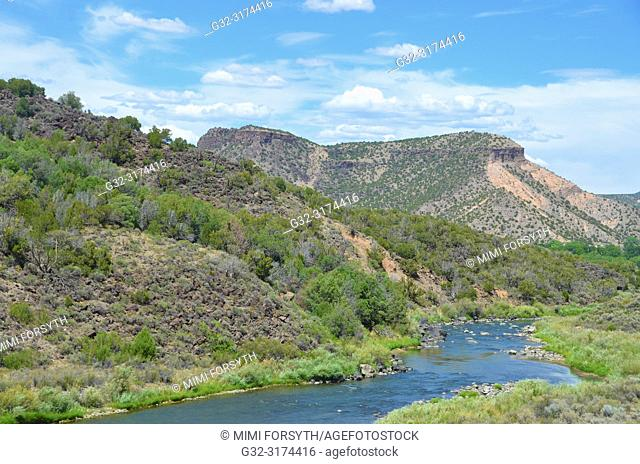 Rio Grande river, near Pilar, New Mexico