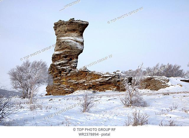 Stone forest Hexigten Banner Chifeng City Inner Mongolia China