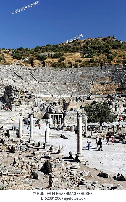 Great Theatre, UNESCO World Heritage Site, Ephesus, Ephesos, Efes, Izmir, Turkish Aegean, western Turkey, Turkey, Asia