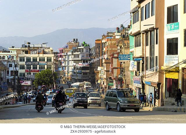 Street scene in Thamel district, Kathmandu, Nepal