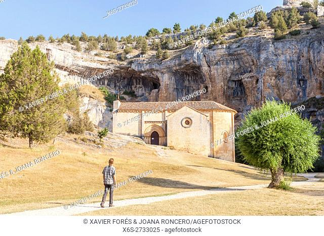 Hermitage of San Bartolome in the Natural Park Cañon de Río Lobos - Canyon of Wolves River -, Soria, Spain