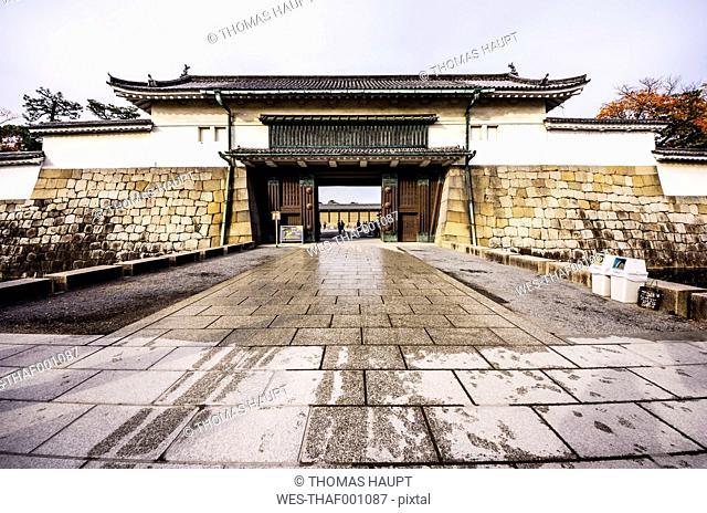 Japan, Kyoto, Nijo Castle, Entrance gate
